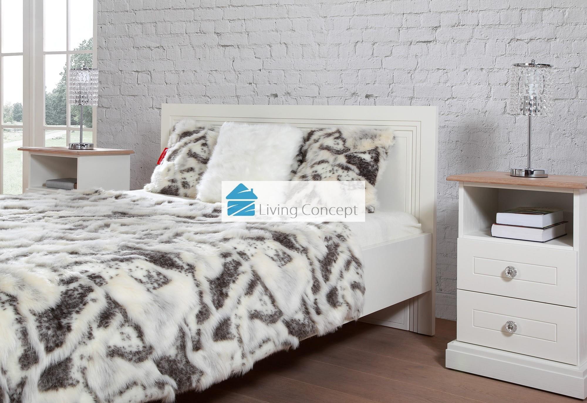 Bed Cover Goat 150 Cm X 200 Cm Fur Blanket Living Concept